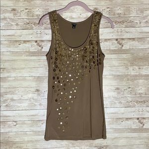Loft Brown Sequin Tank
